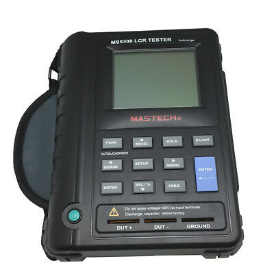 MS5308 Portable Handheld LCR Meter RS232 100Khz fit FLUKE dual display UK ship