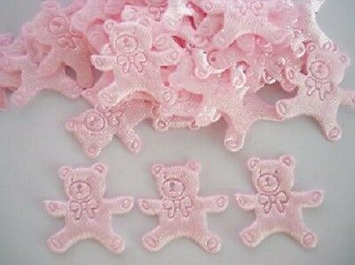 144 Baby Girl Satin Applique/trim/shower/Foot/Teddy Bear/Crib A6-Pink Pick Style