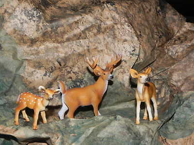 Deer Animal Schleich Retired Figure White-tailed Buck Fawn Doe Christmas Village