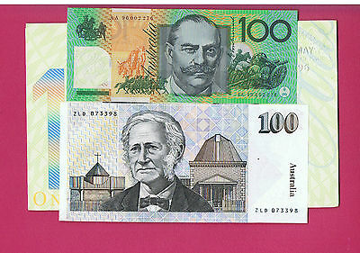 1996 Melbar-Monash $100 First Polymer AA96 Last Paper ZLD Embossed Note Folder