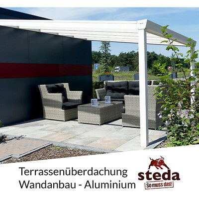 berdachung pergola alu 3x4m 300x400 cm doppelsteg freistehend steda eur. Black Bedroom Furniture Sets. Home Design Ideas