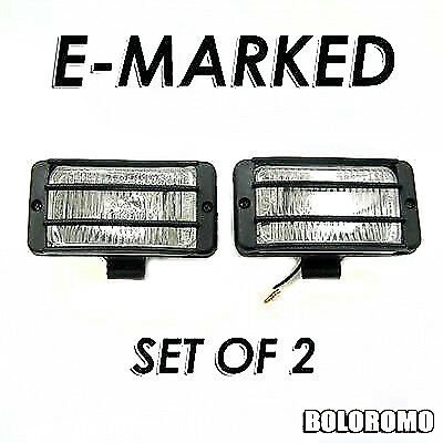 Set Of 2 Universal Car 4x4 Offroad Grille Fog Spot Lights New