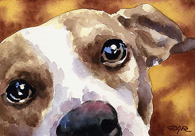 JACK RUSSELL TERRIER Painting Dog 8 x 10 ART Print Signed DJR