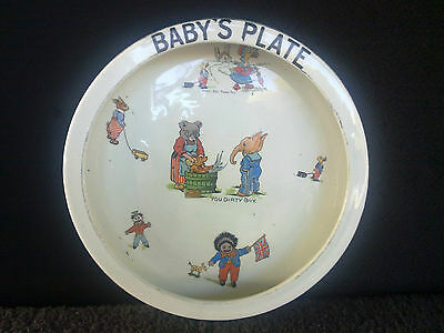 British Pottery Baby's Plate From Early 1900's