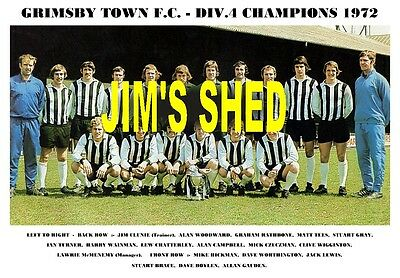 Grimsby Town F.c.team Print 1972 (Division 4 Champions))