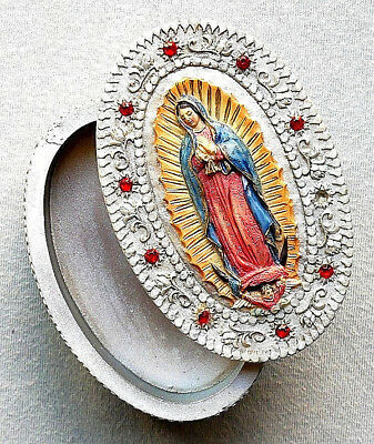 Guadalupe Resin Rosary Case