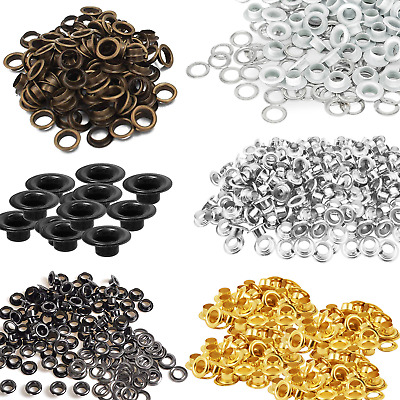 100pcs 4mm Eyelets Grommets Washers Banners Leather Craft Purses Scrapbook