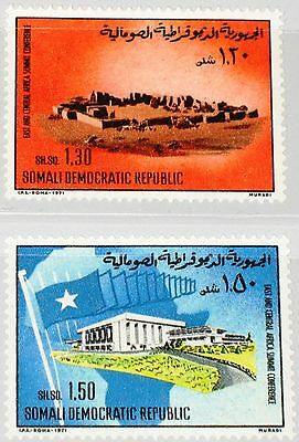 SOMALIA 1971 180-81 378-79 East - Central Africa Summit Conference Gebäude MNH