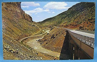 Vintage Yellowstone Cody Road WY National Park Color Photo Print Postcard Sturm