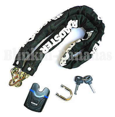 Heavy Duty Chain And Lock Strong 1.2M Long Motor Bike Cycle Security Padlock 29B