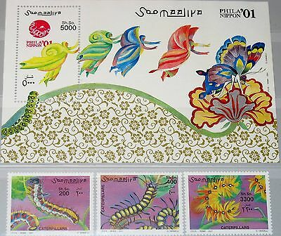 SOMALIA 2001 886-888 Block 79 Raupen Larvals Insects Insekten PHILANIPPON MNH