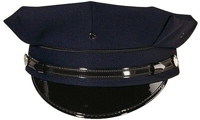 Navy Blue Security & Police Law Enforcement 8 Point Duty Cap