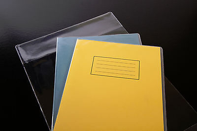 100x clear plastic SCHOOL EXERCISE BOOK COVERS