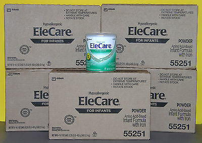 5 sealed CASES - EleCare for Infants with DHA/ARA Powdered Formula - NIB