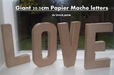 LOVE - large freestanding BIG 20.5cm papier mache cardboard word letters wedding