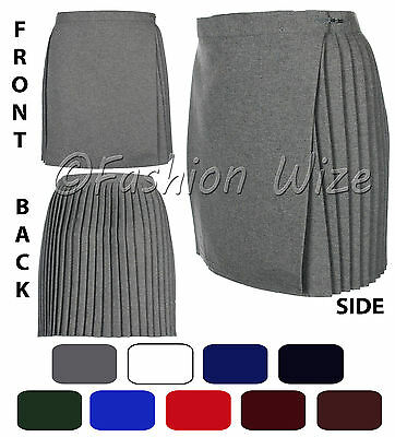 Ladies Girls School Gym Wrap over Skirt Black Grey Navy Royal Blue Maroon Green