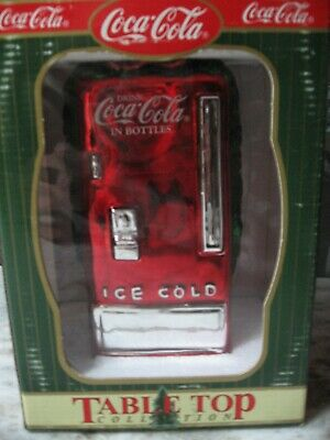 Coca Cola Mercury Glass Table Top Coke Machine - Nib