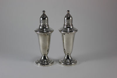 Lovely Pair of Footed Sterling Silver Salt & Pepper Shakers