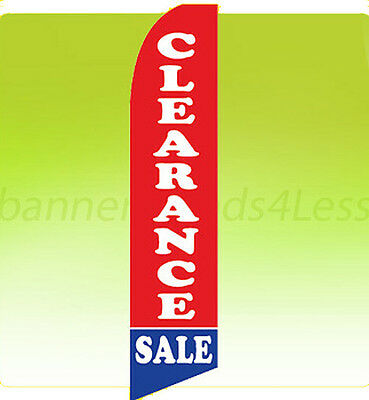CLEARANCE SALE Feather Flag Tall Curved Top Vertical Bow Swooper Banner Sign