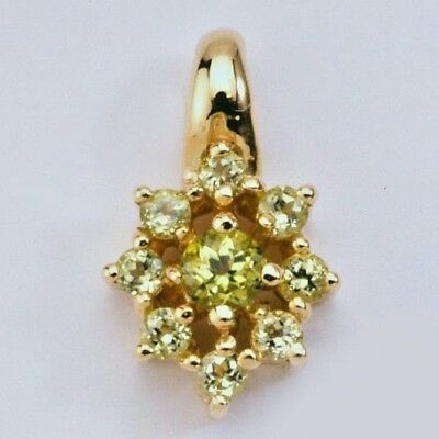 New 9K Solid Gold Pendant With Peridot's,instock