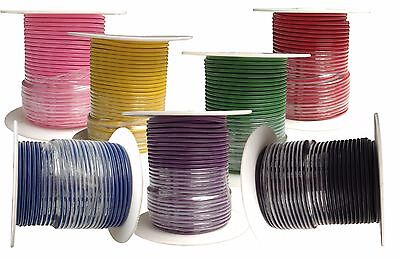 12 Gauge Primary Wire : Copper Stranded : 7-100' Spools : CHOOSE YOUR COLORS!