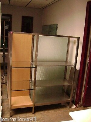 Retail Glass & Metal Shelving /  Modern Retail Display Stand