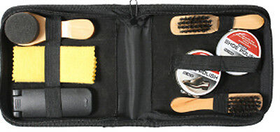 Black Military Shoe & Boot Cleaning Kit With Tactical Travel Case