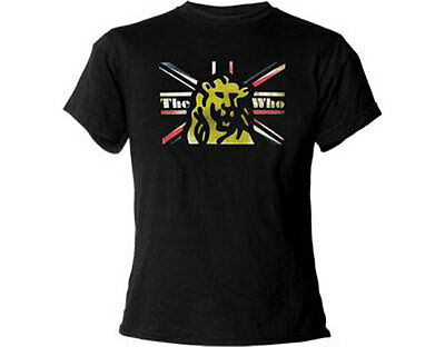 The Who: Union Jack Lion Ladies Skinny Fit T-Shirt - New & Official [2 Sizes]