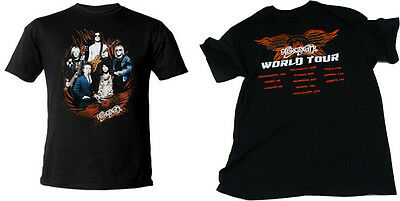 Aerosmith - Band In Flames World Tour 2010 Short Sleeve T-Shirt - New & Official
