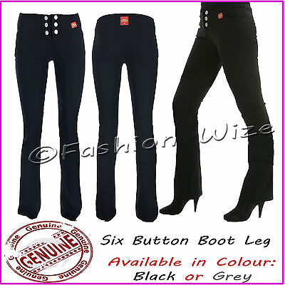 Miss Sexies Ladies Girls Black Grey Navy Work School Trousers Stretch Hipster
