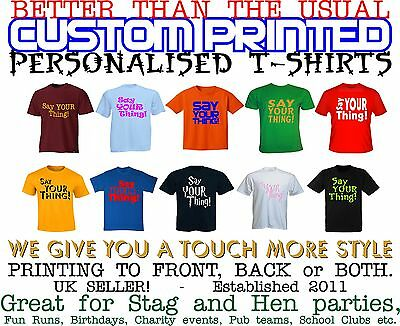 94594152 T-Shirts Shirts & Tops PERSONALISED T SHIRT CUSTOM PRINTED YOUR CUSTOM TEXT  STAG HEN PARTY ...