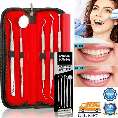 Dental Floss Care Teeth Whitening Tartar plaque Remover Tooth Scraper Mirror IF