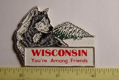 MAGNET - flexible - Wisconsin - You're Among Friends - Wolf