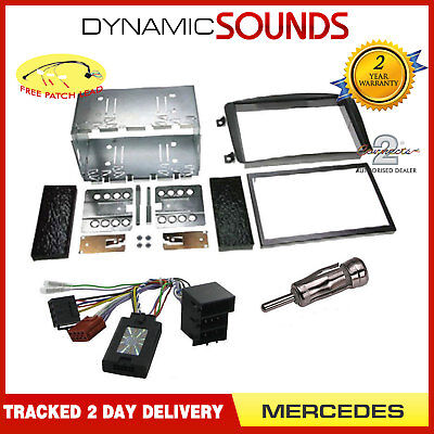 MERCEDES C Class W203 Double Din Car Stereo Fitting Kit Fascia Steering Control