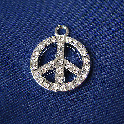 Charms Pace + Strass - in metallo - mm 20