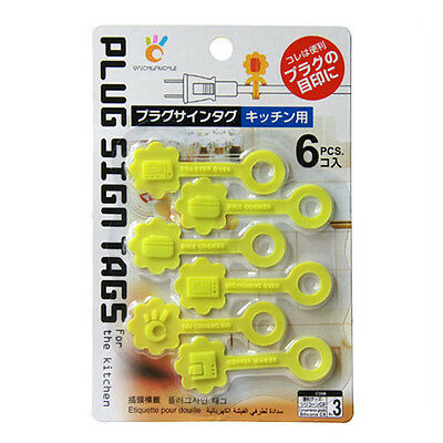 6 in 1 Plastic Network Cable Label Tag Marker Organizer