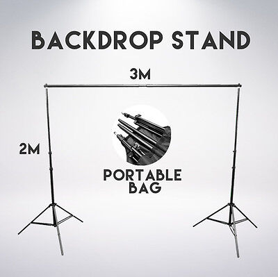 2M x 3M Portable Photography Studio Lighting Backdrop Stand for Muslin Backdrops