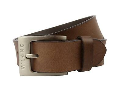 "Mens Full Grain Leather 1.5"" (40mm) Wide BELT by Milano Stylish Jeans (Brown)"