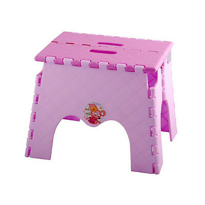 Portable Kids Folding Camping Step Stool Plastic Chair