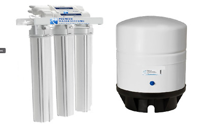 "300 GPD Light Commercial Reverse Osmosis Water Filter System 14 Gal Tank 20"" RO"