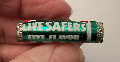 Vintage Very Old Live Safers Life Savers Five Flavors Pin - PLEASE READ
