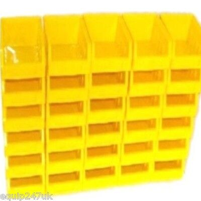 60 Size 1 Yellow Parts Storage Stacking Bin Bins Box