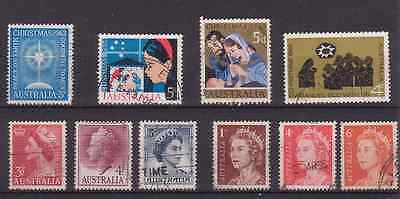 Australia. 1953-1966 Christmas And Other Old Stamps. Ten  Used.