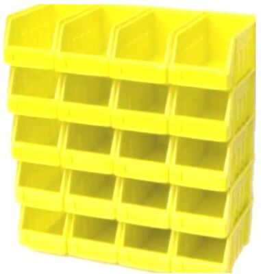 20 Yellow Size 2 Stacking Parts Storage Bins Garage Home Workshop