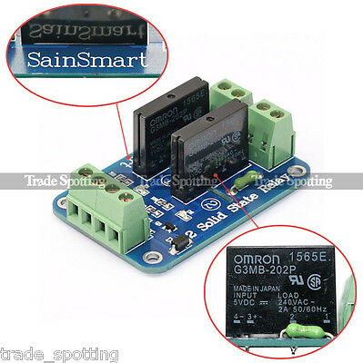 SainSmart 2 Channel 5V Solid State Relay Opto-couple OMRON SSR AVR DSP Arduino