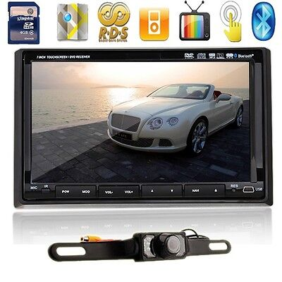 G8677 7 inch LCD  Car GPS Multimedia Player In-Dash Double 2 Din BT Radio+Camera