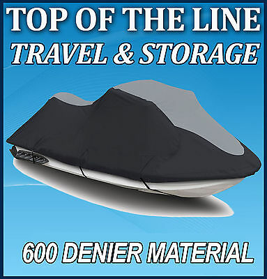 600 DENIER SeaDoo 02-06 GTX 4-Tec/ GTX/ DI Jet Ski Watercraft Cover Black/Grey