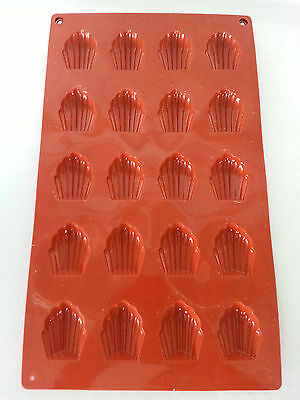 2 MOULE A MADELEINES EN SILICONE - GATEAUX norme EU MADE IN ITALY 100% SILICONE