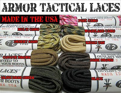 █ Paracord Laces █ Armor Laces© █ Boot Laces  █ Paracord █FREE SHIPPING █ NEW!!