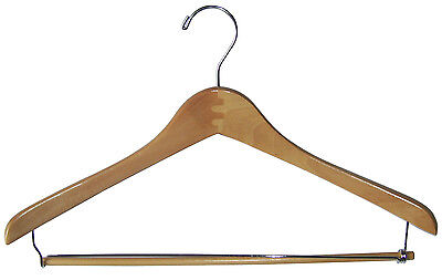 "17"" / 42cm  Clothing Clothes CONTOURED SUIT HANGER WITH CLIP HA-800NA (10pc)"